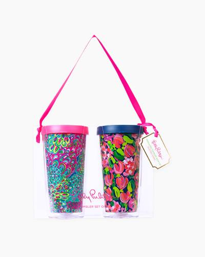 Wild Confetti and Lilly's Lagoon Insulated Tumbler with Lid Set