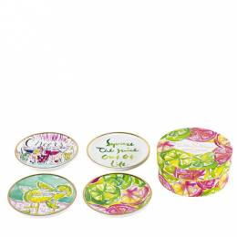 Lilly Pulitzer Cheers! Ceramic Coaster Set