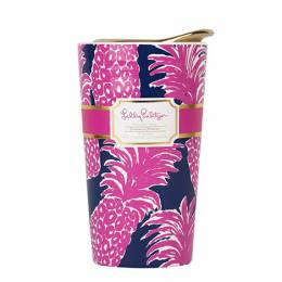 Lilly Pulitzer Flamenco Ceramic Travel Mug