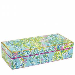 Lilly Pulitzer Blue Heaven Medium Lacquer Box