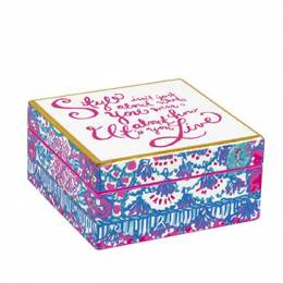 Lilly Pulitzer Style Small Lacquer Box
