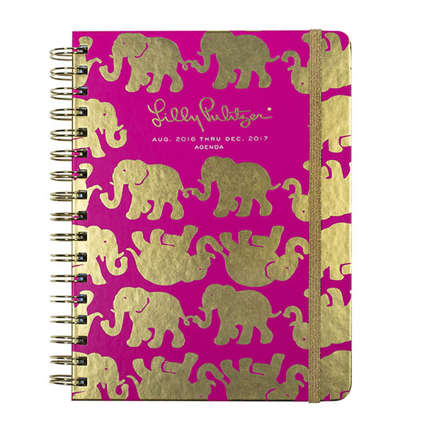 Lilly Pulitzer 2016-2017 17 Month Large Agenda in Tusk in Sun