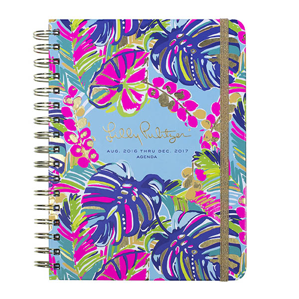 Lilly Pulitzer 2016-2017 17 Month Large Agenda in Exotic Garden