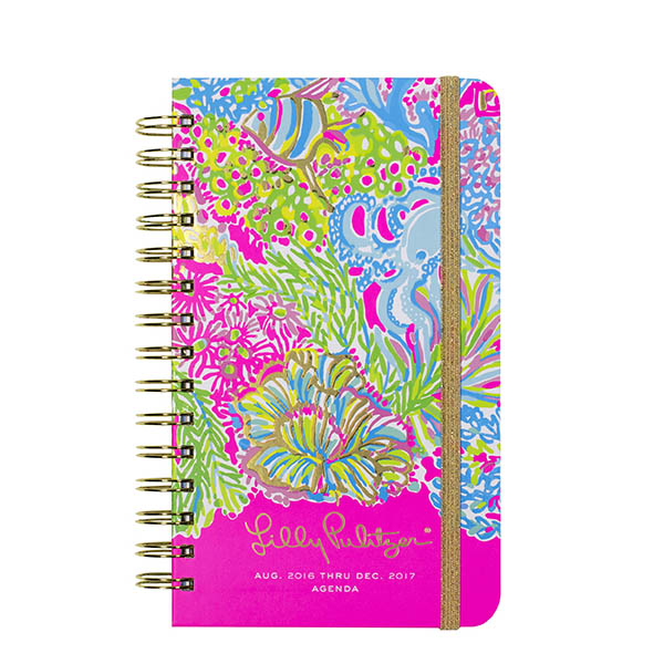 Lilly Pulitzer 2016-2017 17 Month Medium Agenda in Lovers Coral