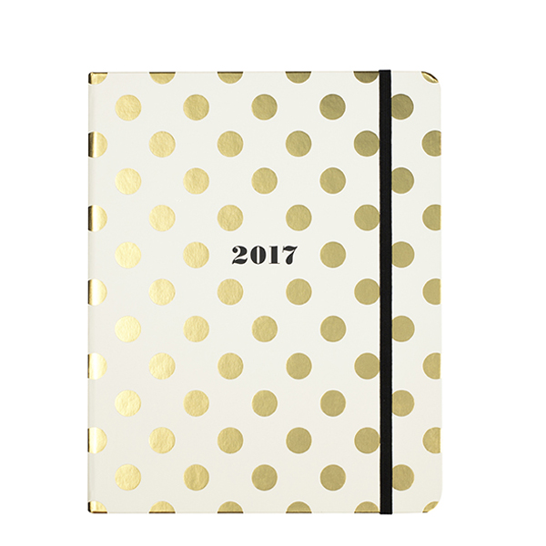 Kate Spade New York 17 Month Agenda in Gold Dots