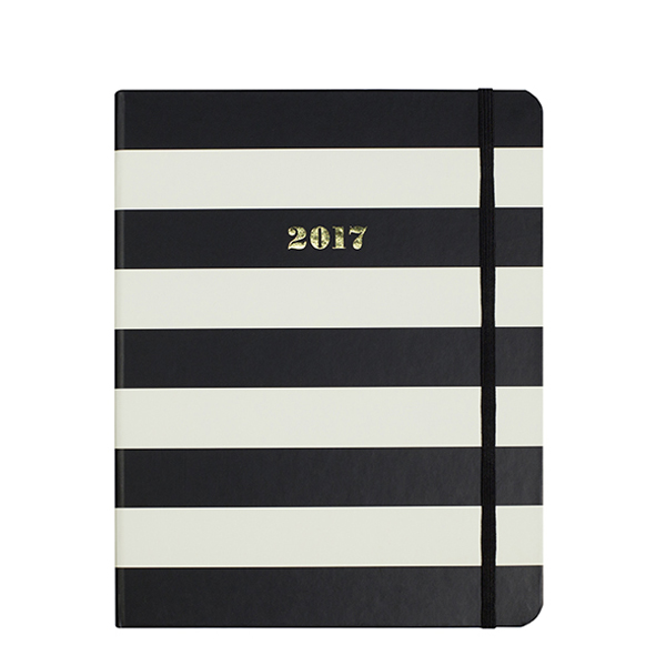 Kate Spade New York 17 Month Agenda in Black Stripe