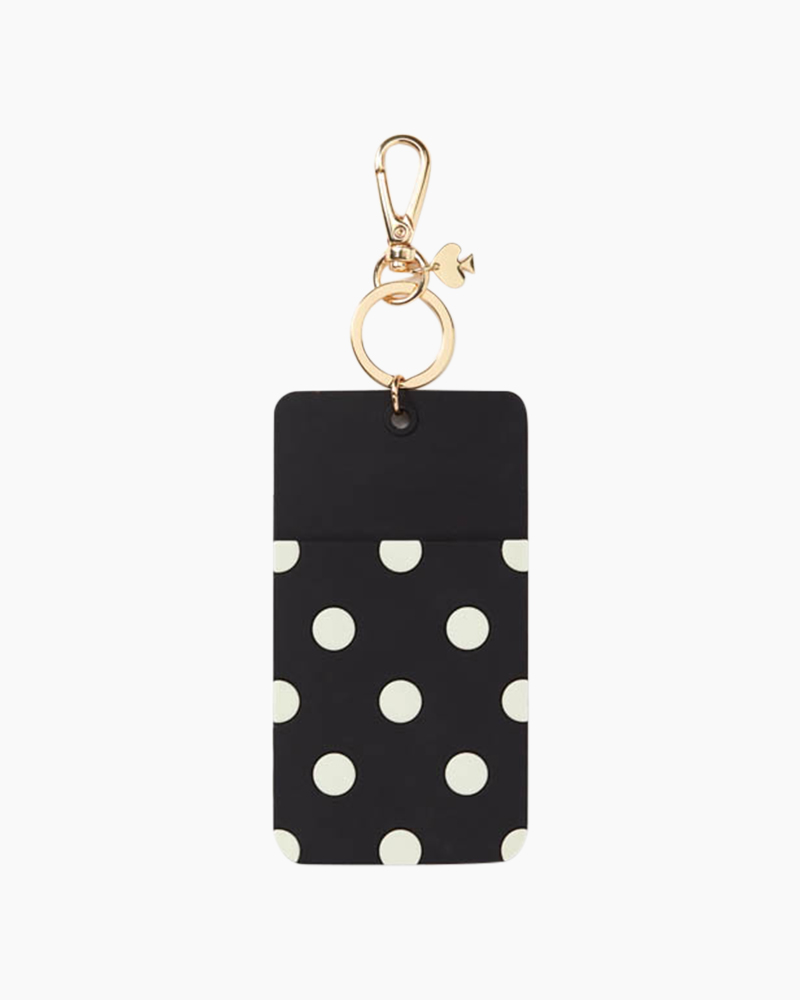 Kate Spade New York Black Dot ID Clip