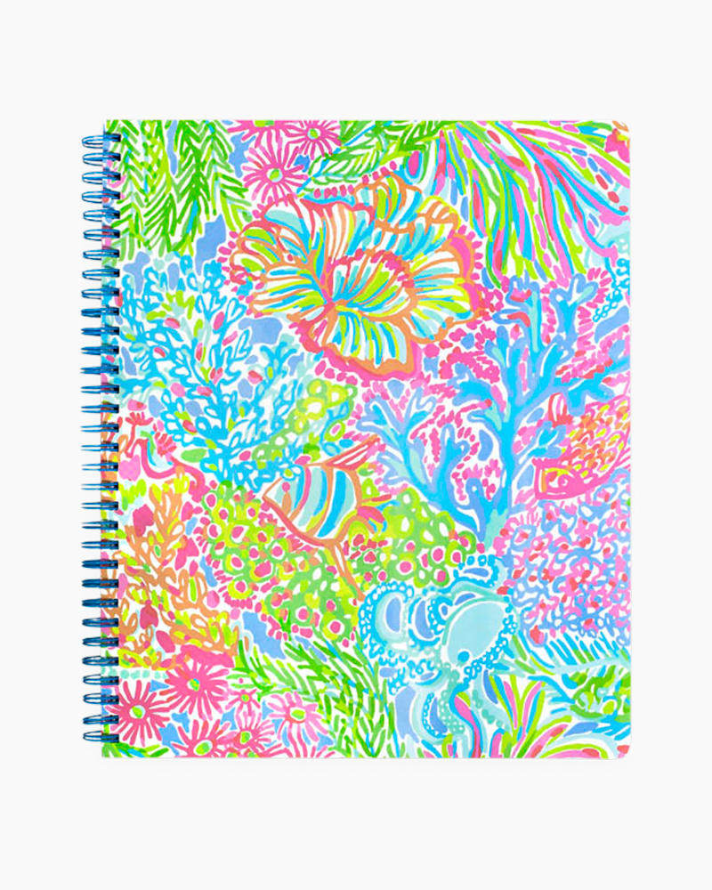 Lilly Pulitzer Large Notebook in Lovers Coral