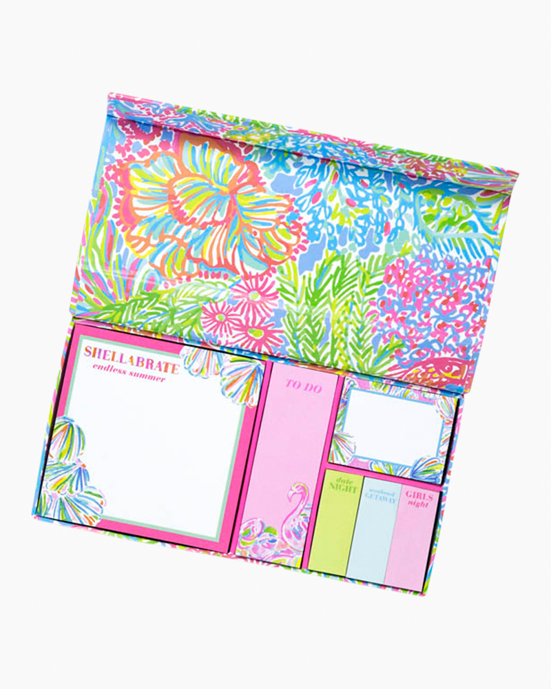 Gentil Lilly Pulitzer Note Cubes And Sticky Notes