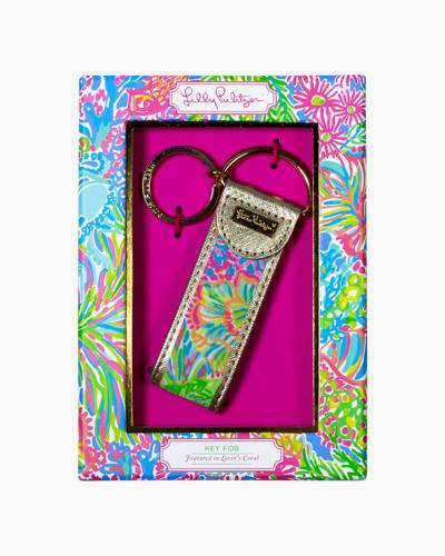 Key Fob in Lovers Coral