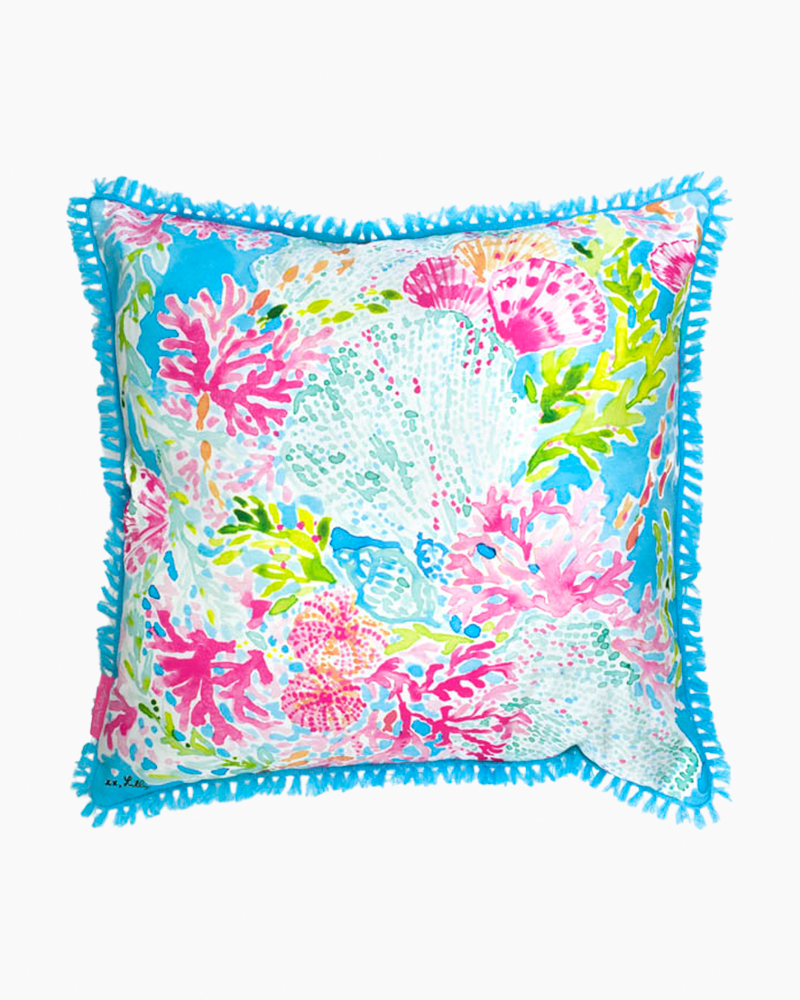 Lilly Pulitzer Large Throw Pillow in Coral Cay