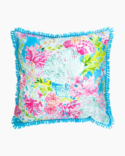 Large Throw Pillow in Coral Cay