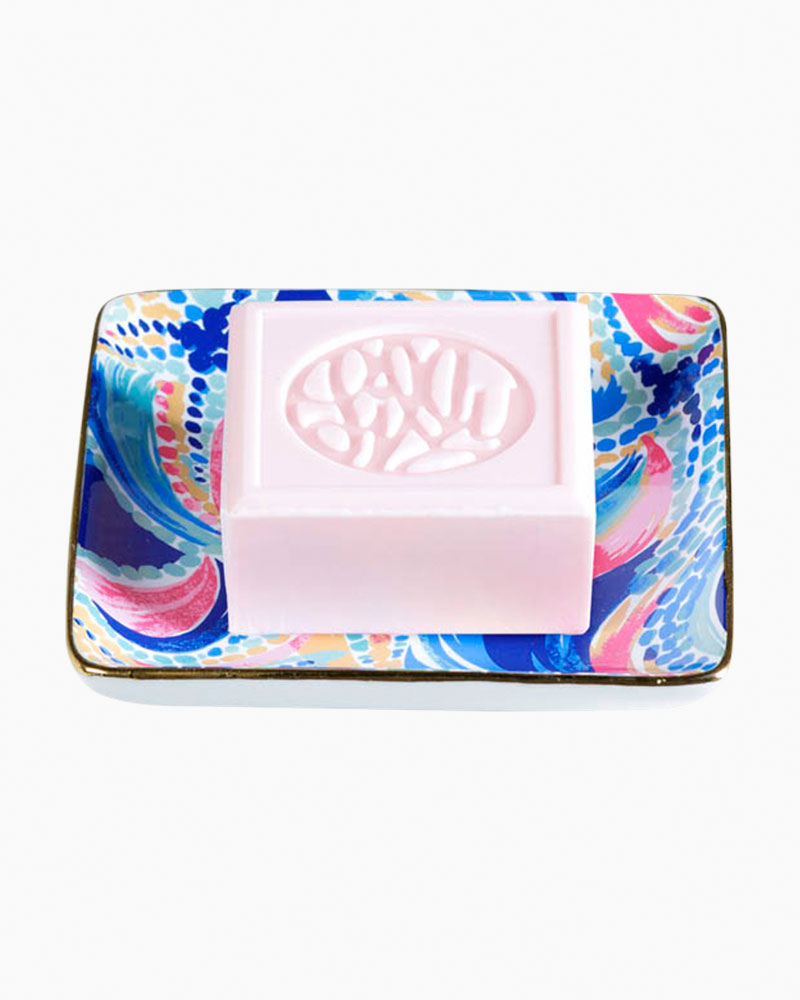 Lilly Pulitzer Glass Soap Tray in Ocean Jewels