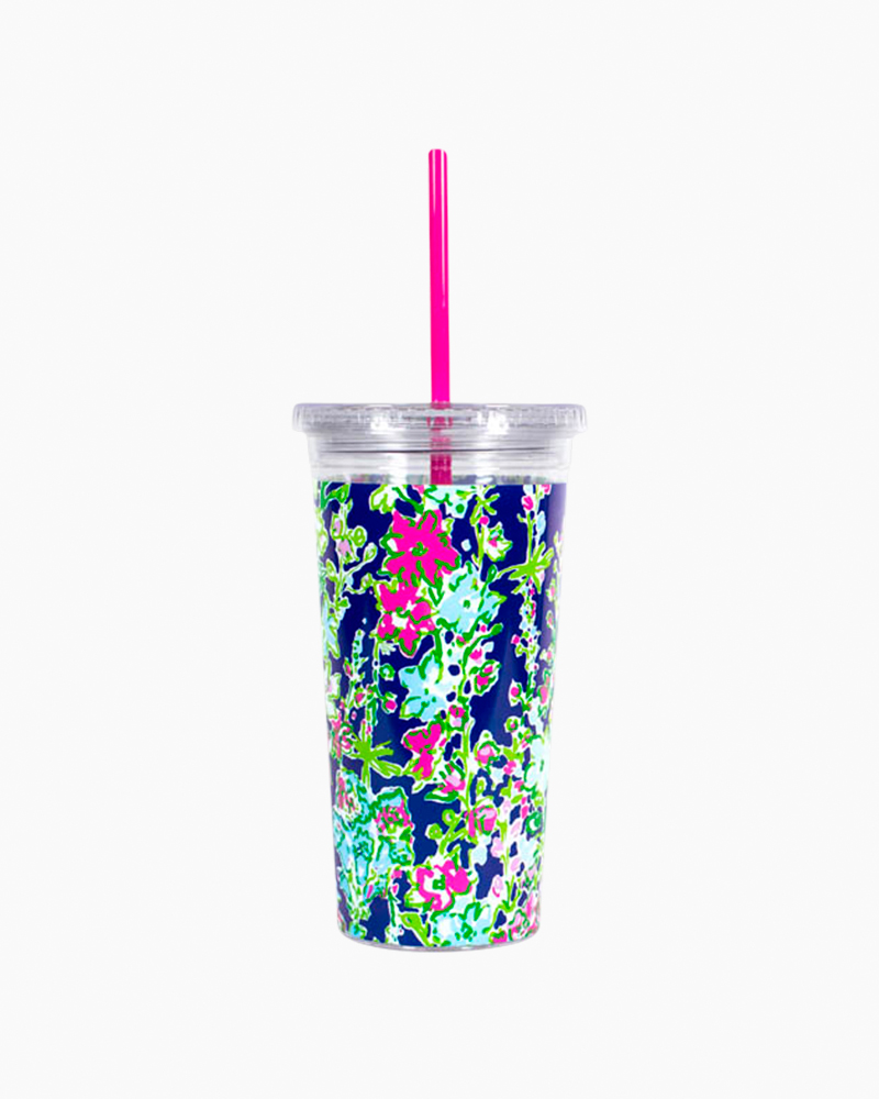 Lilly Pulitzer Tumbler with Straw in Southern Charm