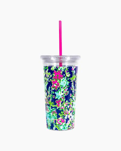 Tumbler with Straw in Southern Charm