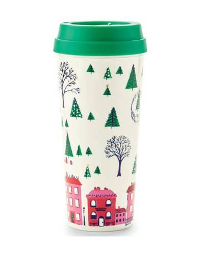 Holiday Village Thermal Mug