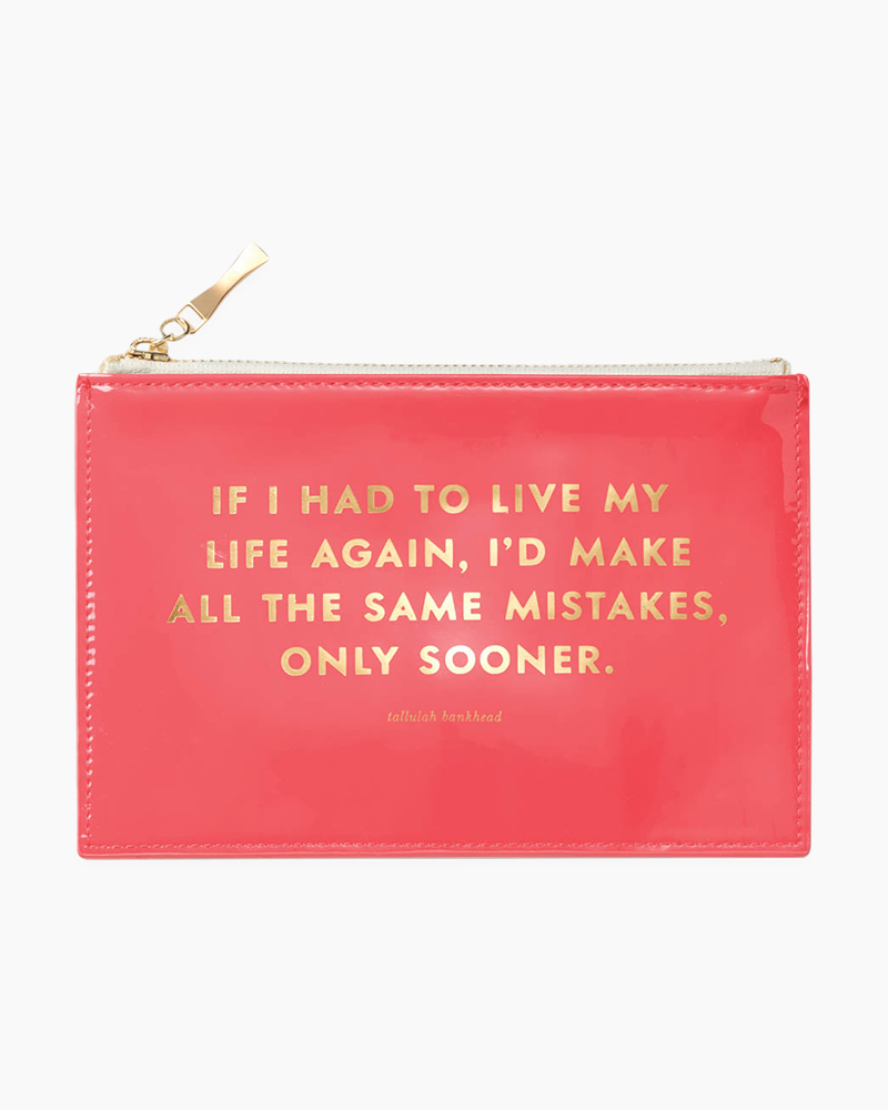Kate Spade If I Had to Live My Life Again Pencil Pouch