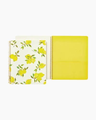 Lemon Large Spiral Notebook