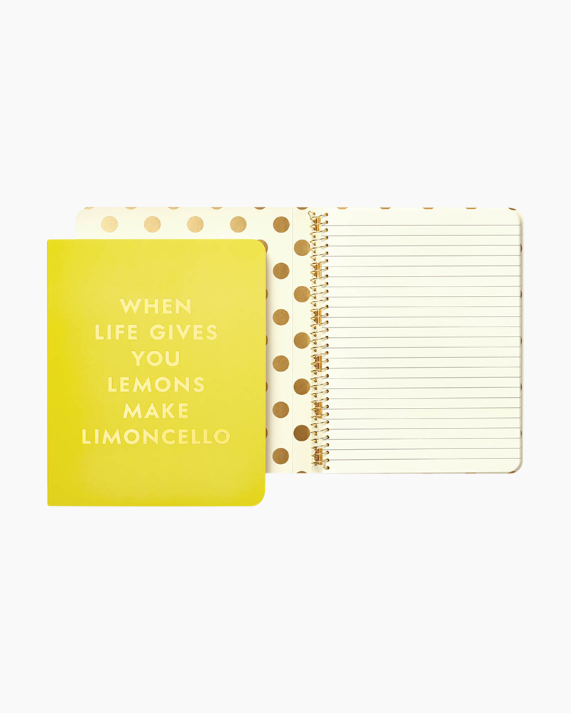 Kate Spade Limoncello Concealed Spiral Notebook