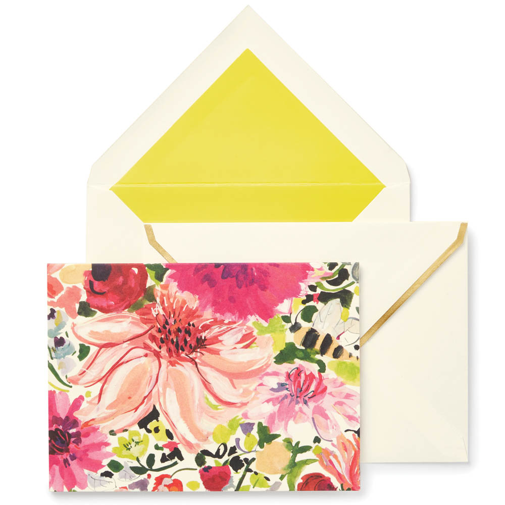 kate spade NEW YORK Notecard Set in Dahlia