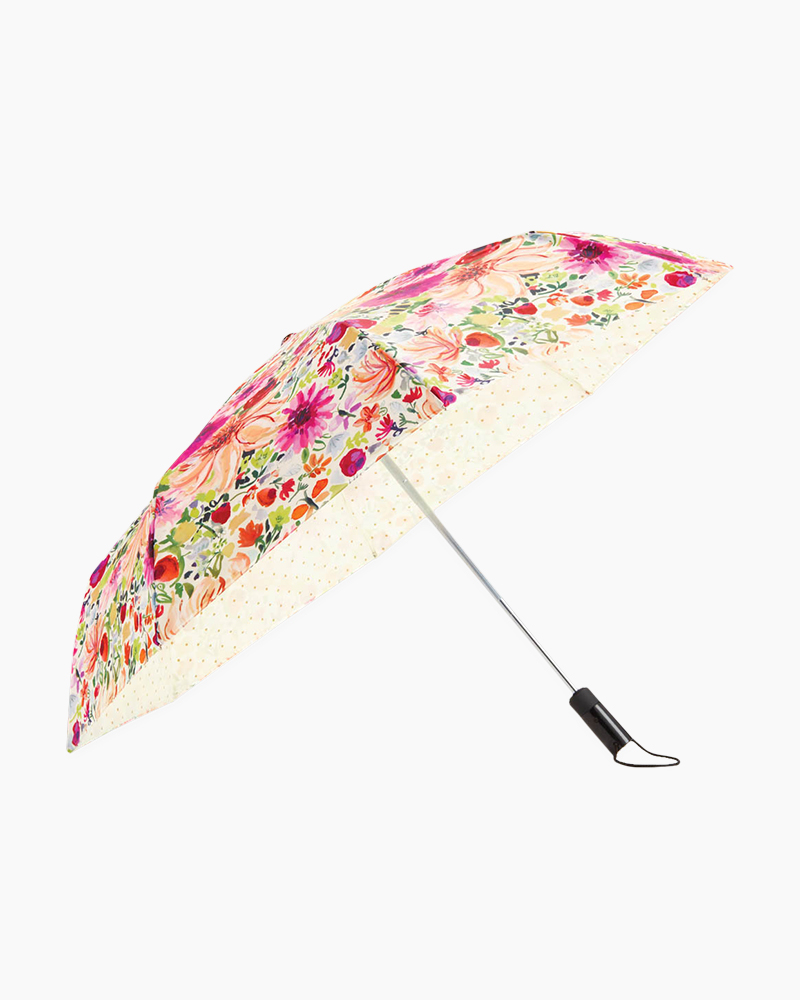 Kate Spade New York Off We Go Travel Umbrella in Dahlia