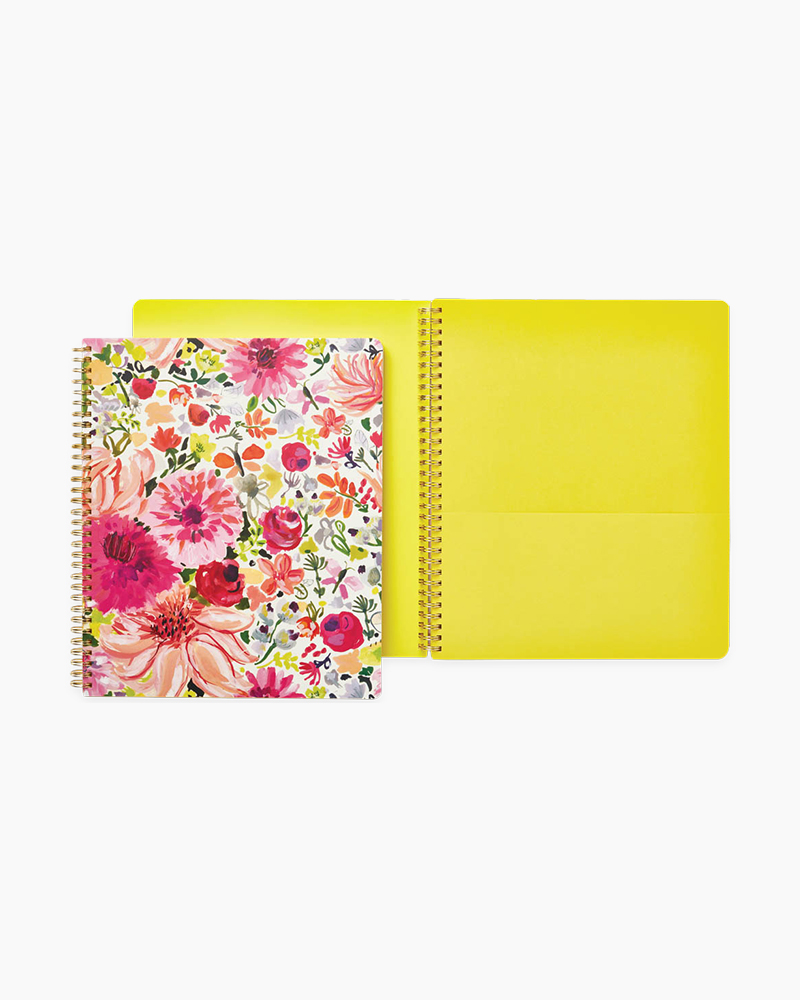 Kate Spade Large Spiral Notebook in Dahlia