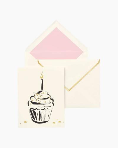 Happy Birthday Cupcake Individual Greeting Card