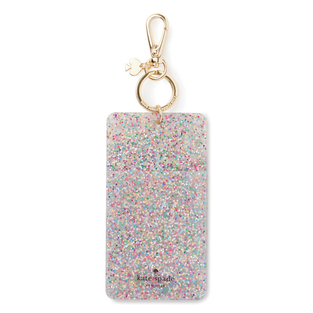 kate spade NEW YORK Multi Glitter ID Clip