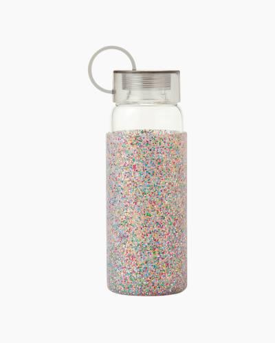 Multi Glitter Glass Water Bottle