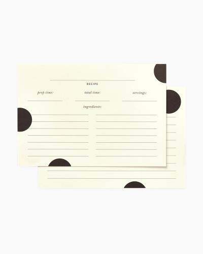 Deco Dot Recipe Cards