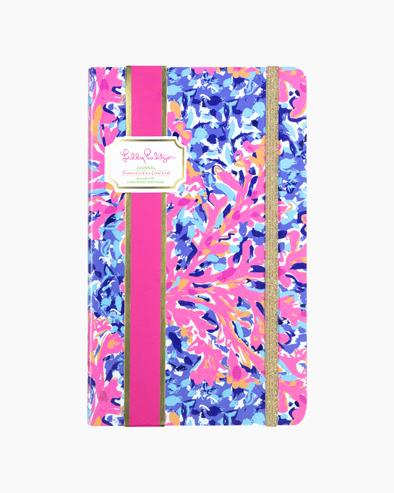 Lilly Pulitzer Journal in Coco Coral Crab