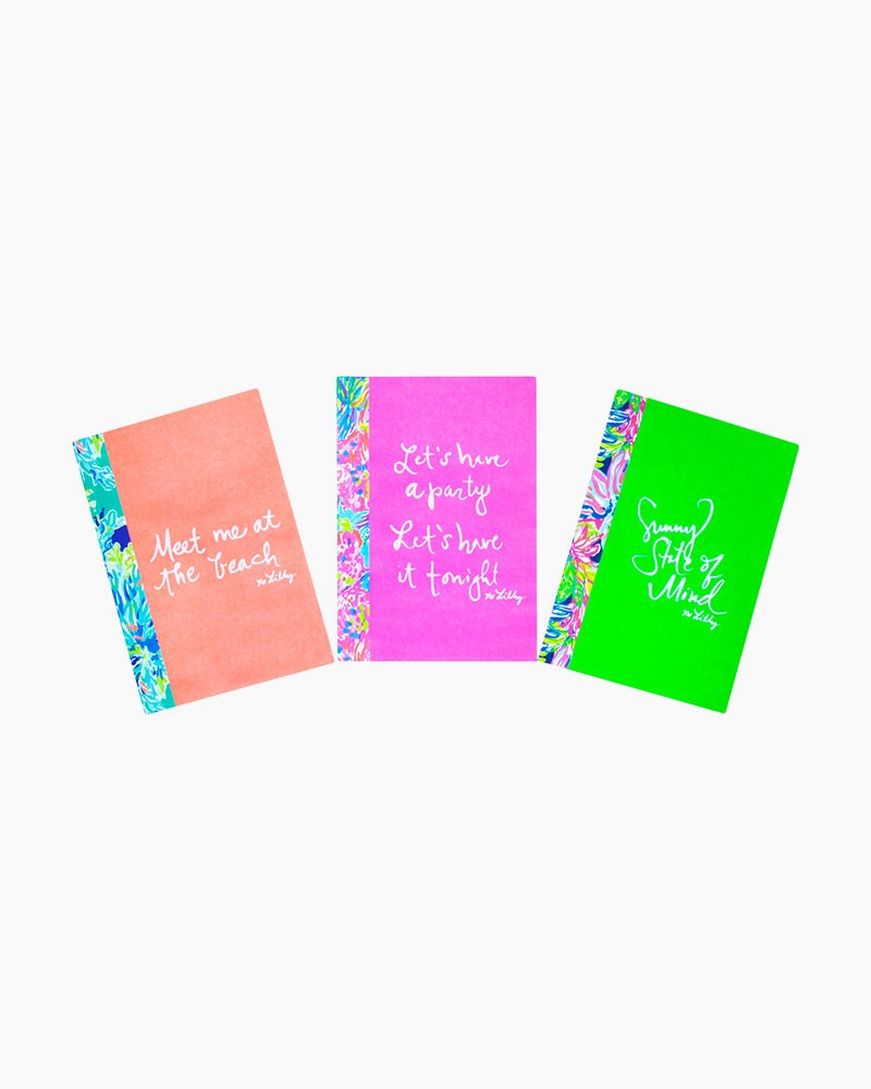 Lilly Pulitzer Patterned Expression Notebook Trio