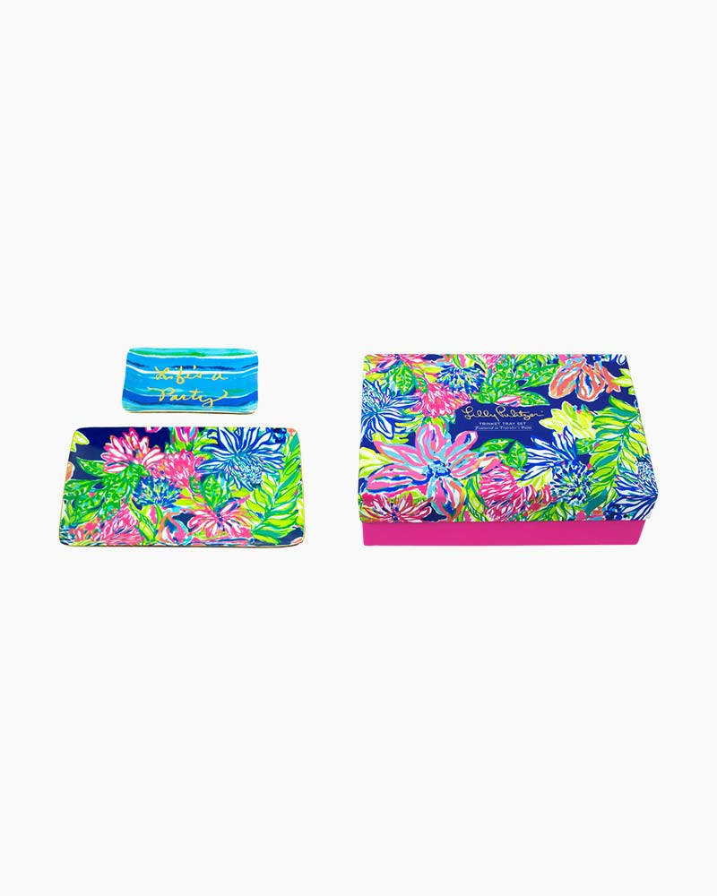 Lilly Pulitzer Trinket Tray Set in Travelers Palm