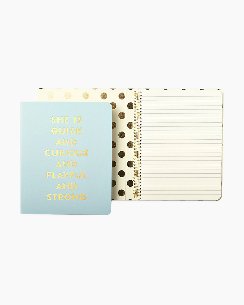 Kate Spade Quick and Curious Concealed Spiral Notebook