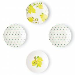 kate spade NEW YORK Lemon Tidbit Plate Set