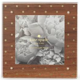kate spade NEW YORK Gold Dots Wooden Picture Frame