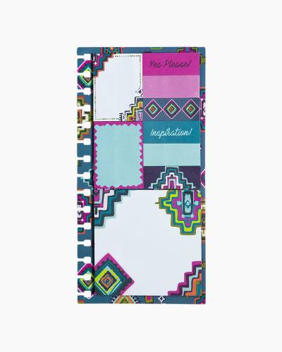 Agenda Sticky Note Set in Painted Medallions