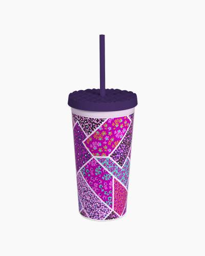 Travel Tumbler with Straw in Modern Medley
