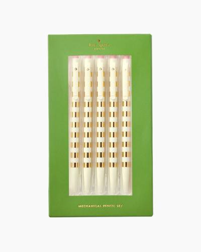 Gold Stripe Mechanical Pencil Set (5-Pack)