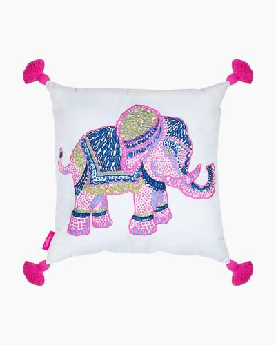 Large Elephants Throw Pillow