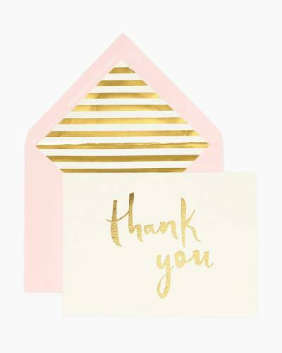 Paint Brush Thank You Cards