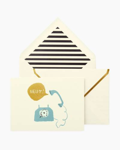 Hello Telephone Thank You Cards