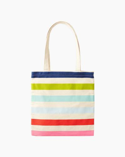 Canvas Book Tote in Candy Stripe