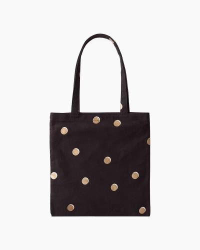 Canvas Book Tote in Scatter Dot