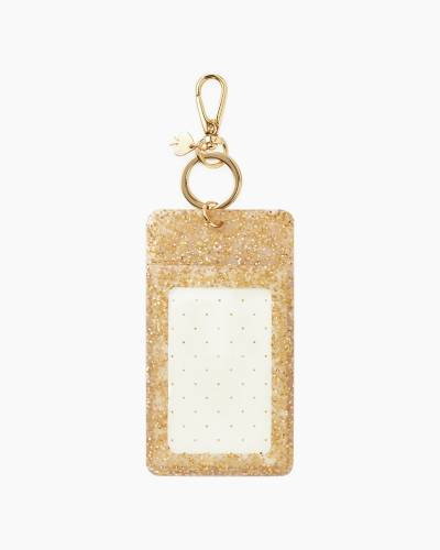Why Hello There Gold Glitter ID Clip