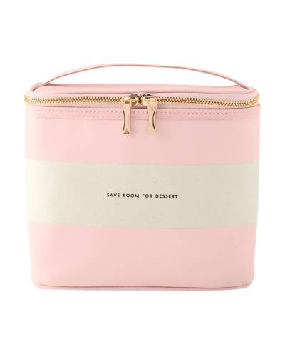 Lunch Tote in Blush Rugby Stripe