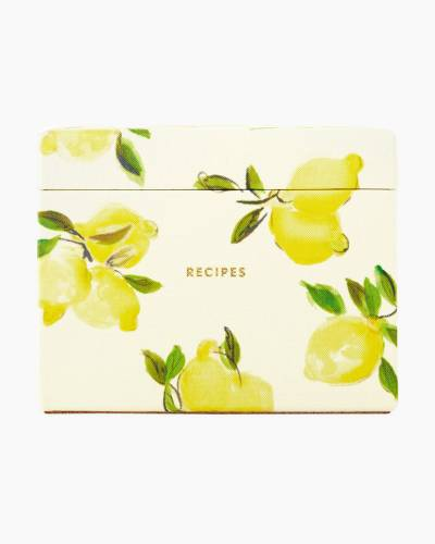 Lemon Recipe Box