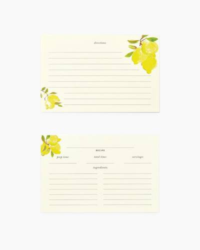 Lemon Recipe Card Refills
