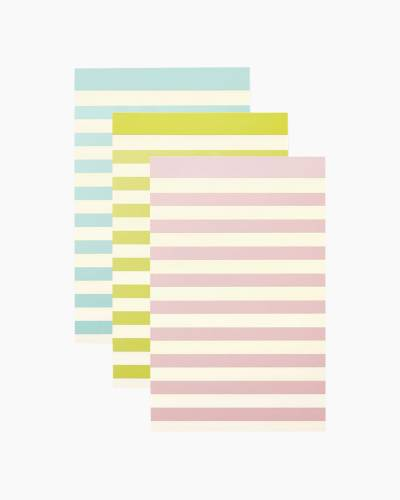 Pastel Stripe Notepad Set