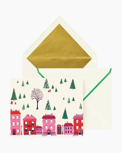 Holiday Village Boxed Cards Set